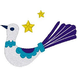 Turtledove embroidery design