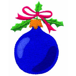 Christmas Bulb embroidery design
