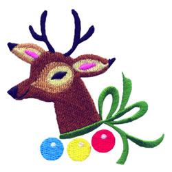 Christmas Riendeer embroidery design