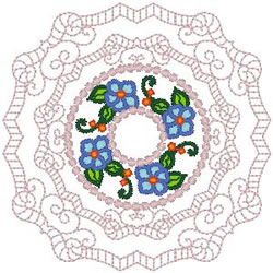 Doily Flowers embroidery design