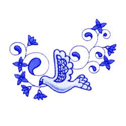 Pretty Dove embroidery design