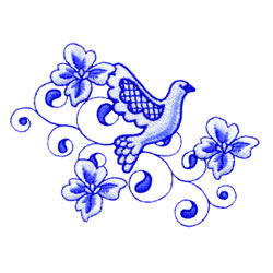 Fancy Dove embroidery design