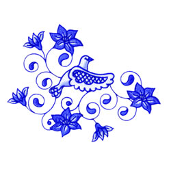 Dove With Flowers embroidery design