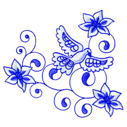 Dove Elegance embroidery design