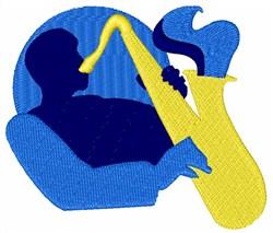 Blues Sax embroidery design