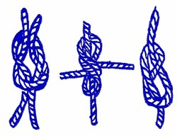 Blue Knots embroidery design