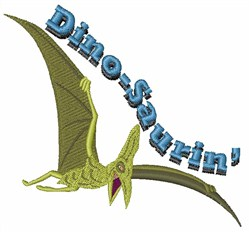 Dino-Saurin embroidery design
