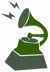 Phonograph embroidery design