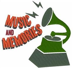 Music & Memories embroidery design