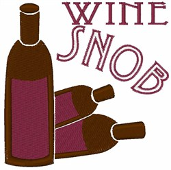 Wine Snob embroidery design