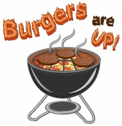 Burgers Are Up embroidery design