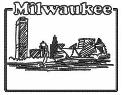 Milwaukee embroidery design