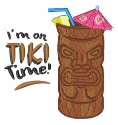 Tiki Time embroidery design
