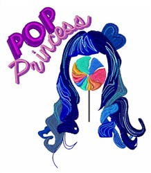 Pop Princess embroidery design