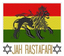 Jah Rastafari embroidery design