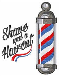 Shave & Haircut embroidery design