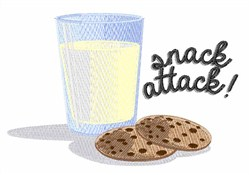 Snack Attack embroidery design