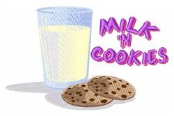 Milk N Cookies embroidery design