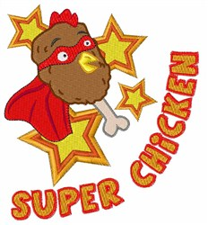 Super Chicken embroidery design