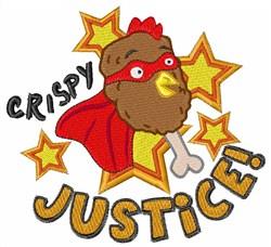 Crispy Justice embroidery design