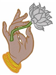 Hand & Lotus embroidery design