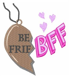BFF Necklace embroidery design