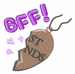 BFF Pendant embroidery design