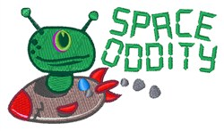 Space Oddity embroidery design
