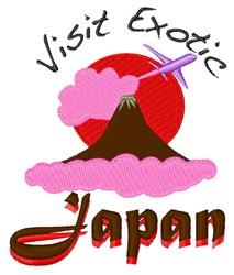 Visit Japan embroidery design