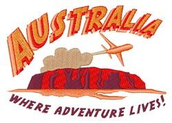 Australia Adventure embroidery design