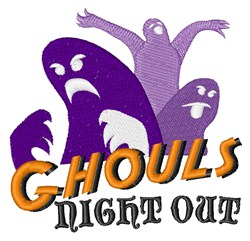 Ghouls Night Out embroidery design
