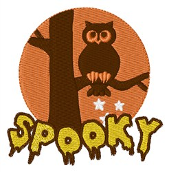 Spook Owl embroidery design