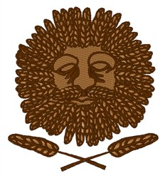 Wheat Face embroidery design