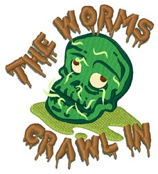Worms Crawl In embroidery design