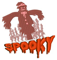 Spooky Scarecrow embroidery design