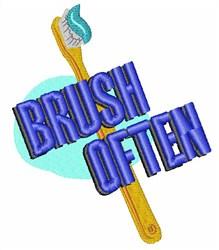 Brush Often embroidery design