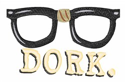 Dork Glasses embroidery design