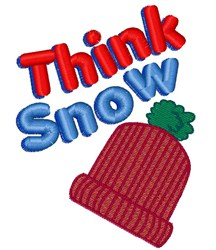 Think Snow Cap embroidery design