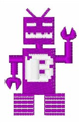 Robot Invaders Font B embroidery design