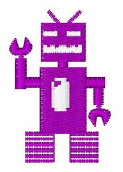 Robot Invaders Font I embroidery design
