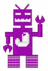 Robot Invaders Font J embroidery design