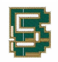 Circuit Board Font 5 embroidery design