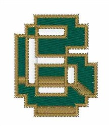 Circuit Board Font 6 embroidery design