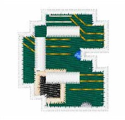 Circuit Board Font c embroidery design