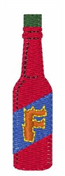 Hot Sauce Font F embroidery design