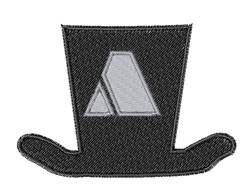 Dapper Hat Font A embroidery design