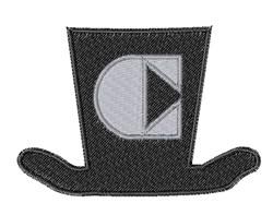 Dapper Hat Font C embroidery design