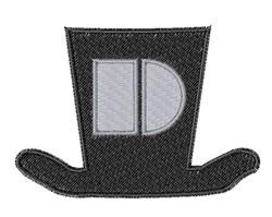 Dapper Hat Font D embroidery design
