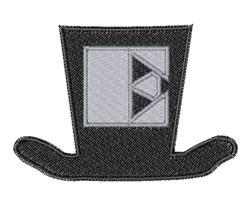 Dapper Hat Font E embroidery design