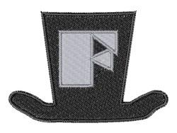 Dapper Hat Font F embroidery design